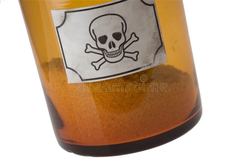 De fles van het glas van vergift royalty-vrije stock afbeeldingen