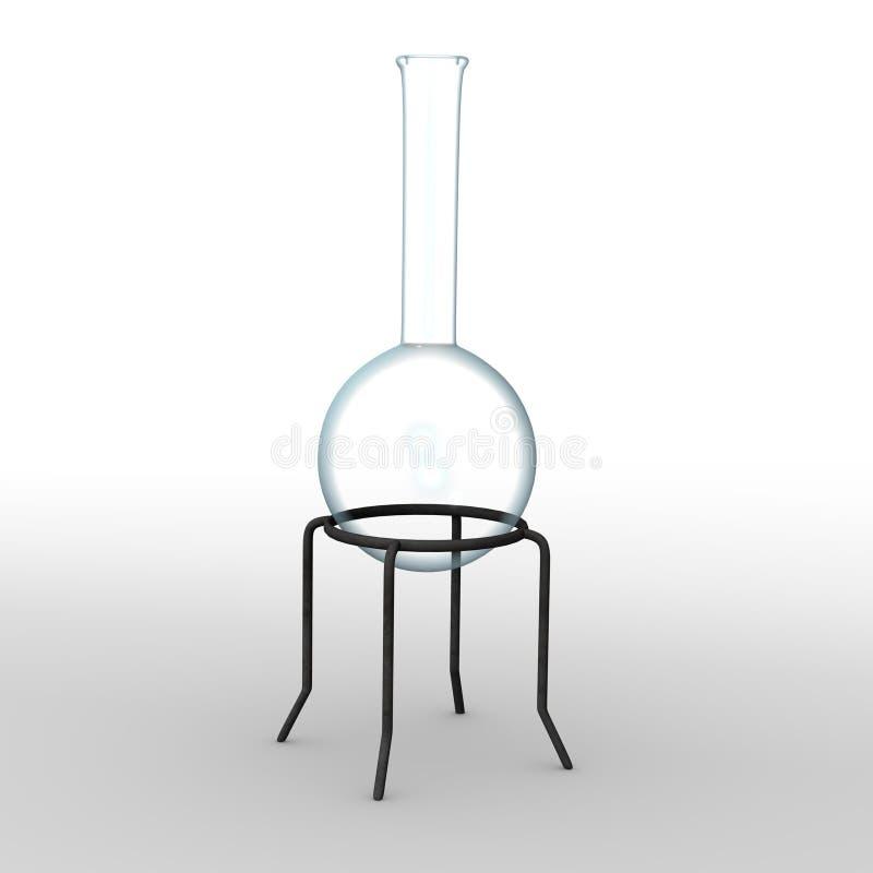 De fles van het laboratorium stock illustratie