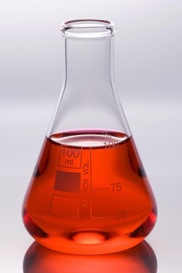 De fles van het laboratorium stock afbeeldingen
