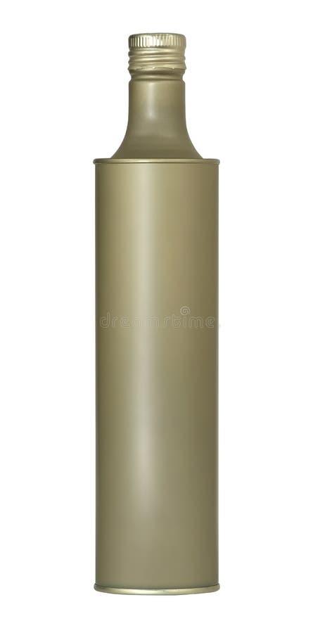 De fles van het metaal royalty-vrije stock afbeeldingen