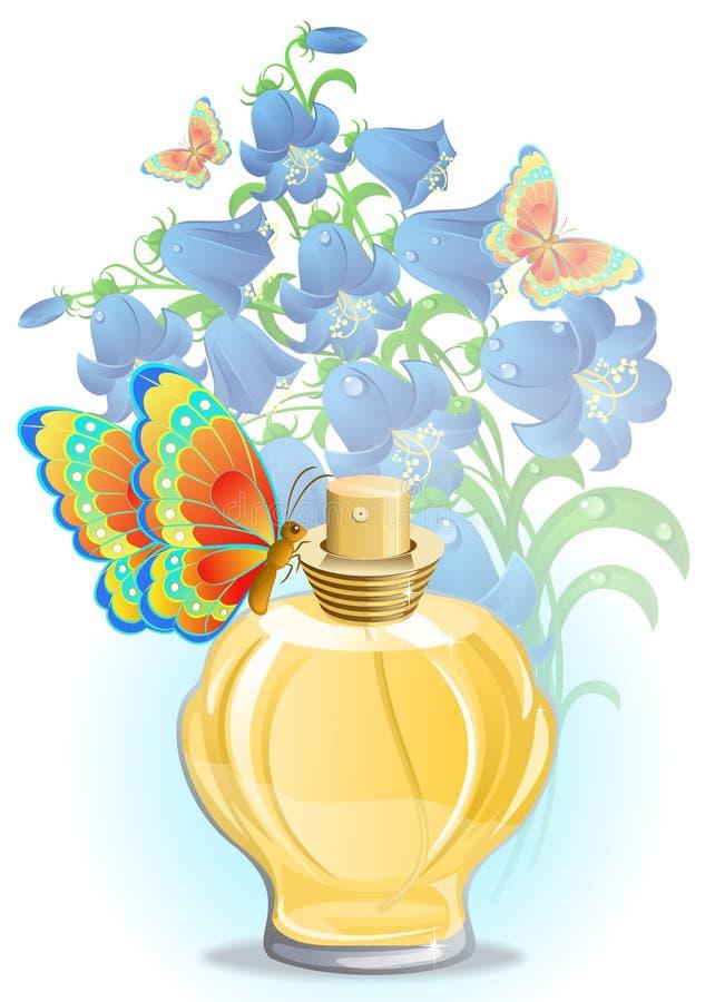 De fles van het parfum royalty-vrije illustratie