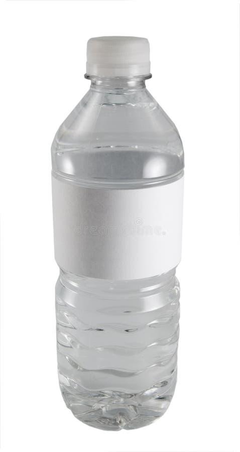 De fles van het water stock afbeelding