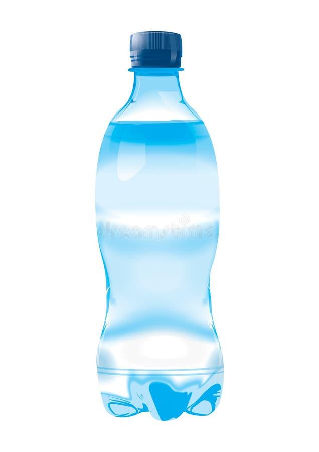 De fles van het water royalty-vrije illustratie