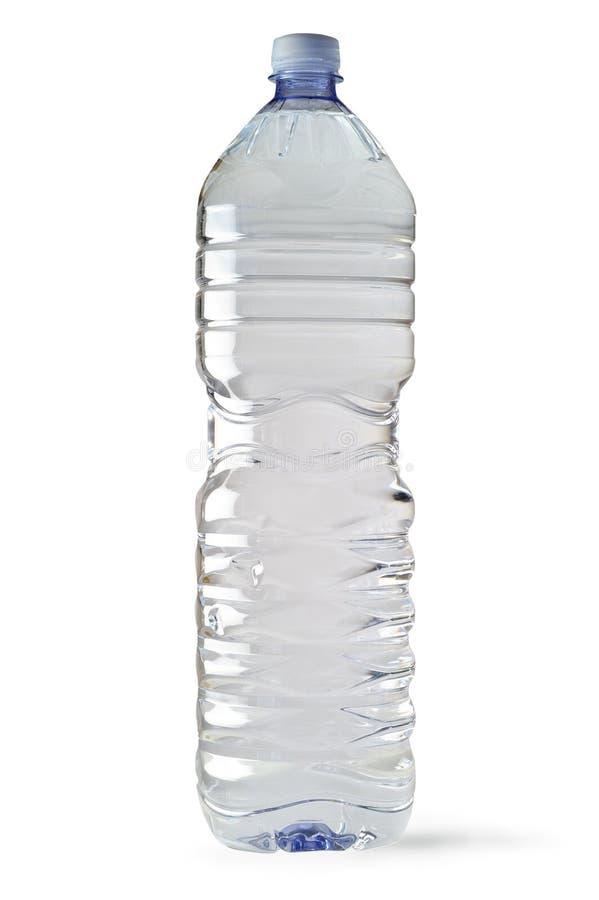 De fles van het water met het knippen van weg stock fotografie