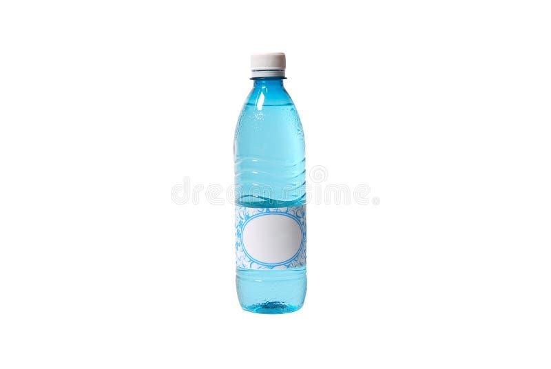 De fles van het water met leeg etiket royalty-vrije stock afbeelding