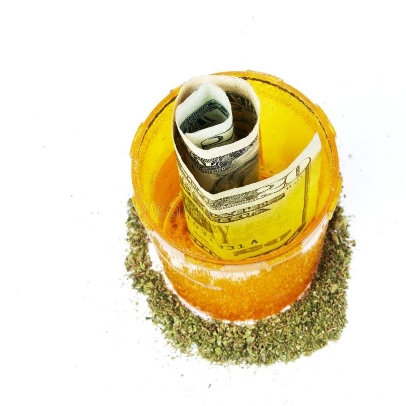 De Fles van Rx van de voorschriftmarihuana stock foto