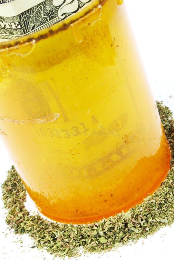 De Fles van Rx van de voorschriftmarihuana stock foto's