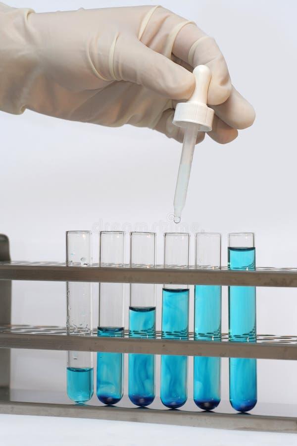 De flesjes van de test stock afbeeldingen