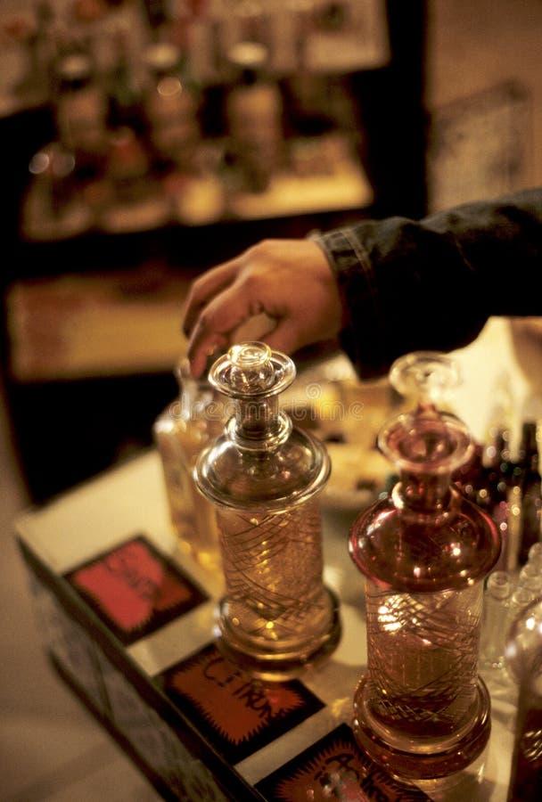 De flessen Tunesië van het parfum royalty-vrije stock fotografie