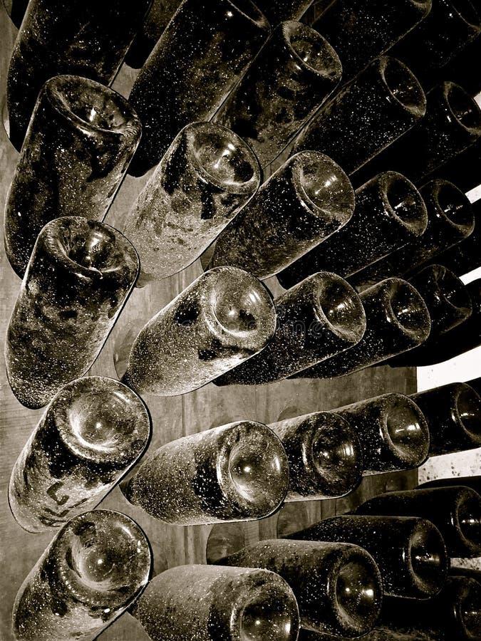 De flessen van Champagne stock foto's