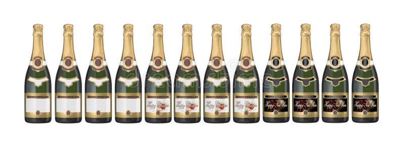 De flessen van Champagne royalty-vrije stock foto