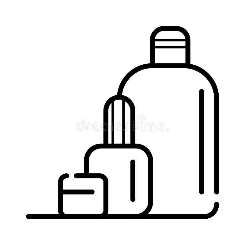 De Flessen van Cosmetcproducten royalty-vrije illustratie