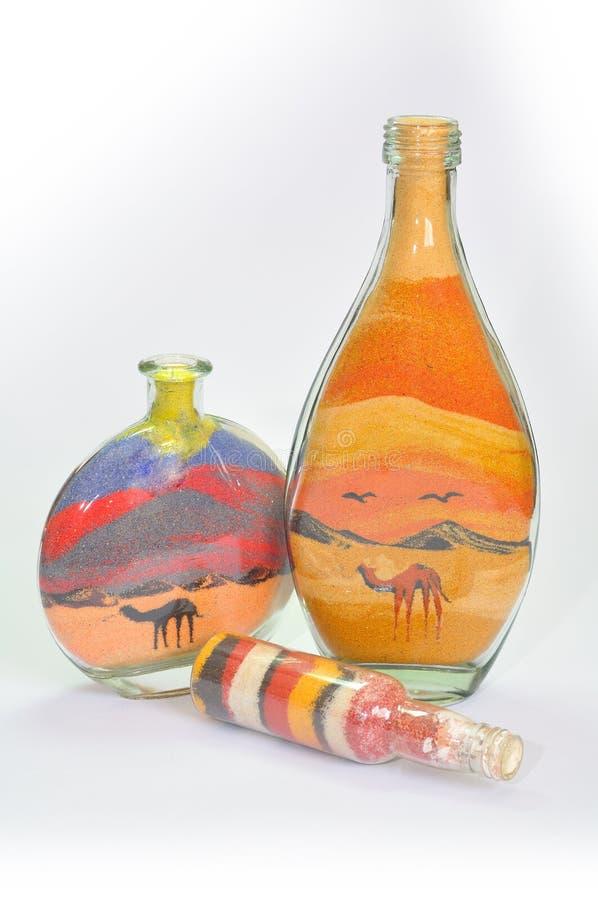De flessen van de gift. stock foto