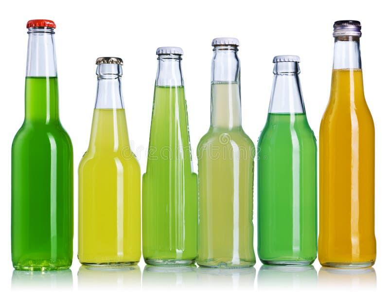 De flessen van de limonade stock fotografie
