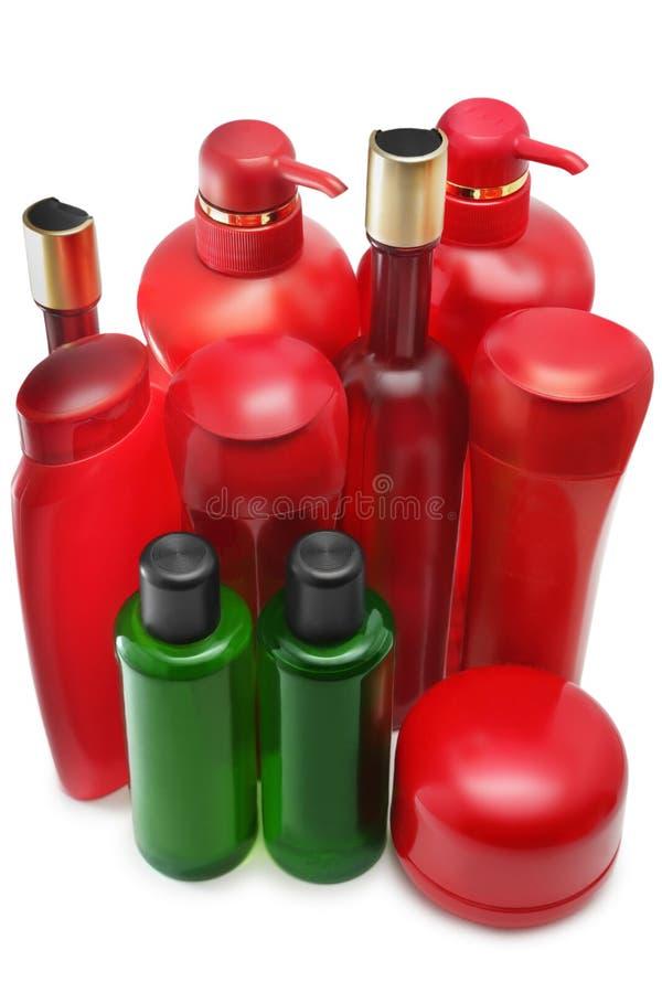 De flessen van de shampoo royalty-vrije stock afbeeldingen