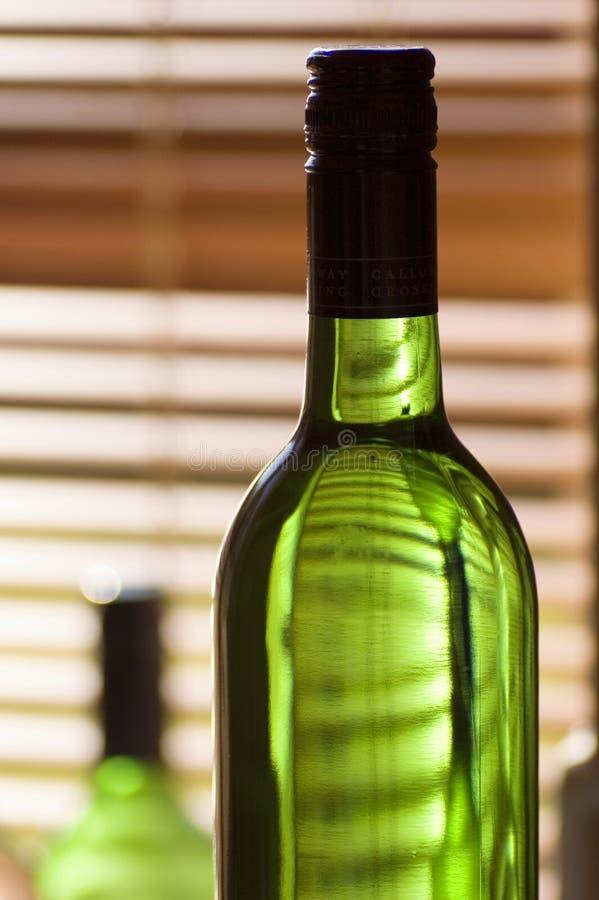 De Flessen van de wijn royalty-vrije stock fotografie