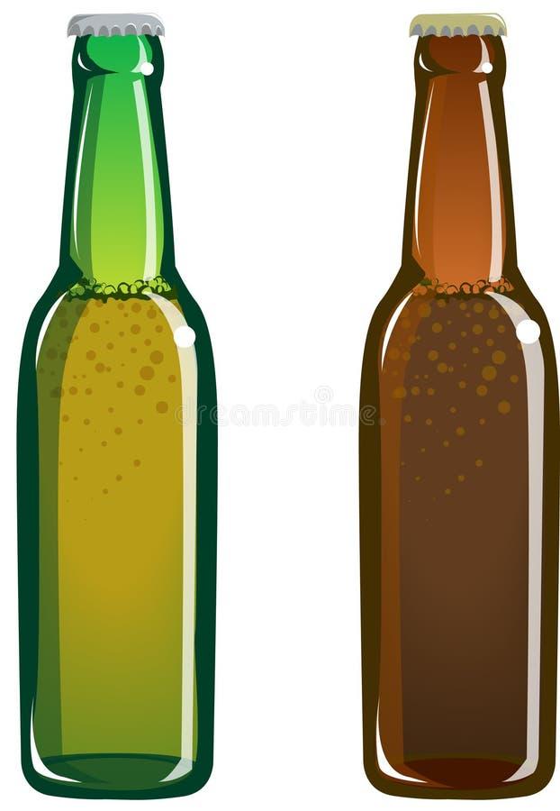 De flessen van het bier royalty-vrije illustratie