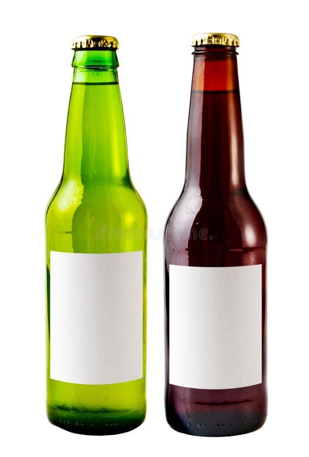De Flessen van het bier royalty-vrije stock afbeeldingen