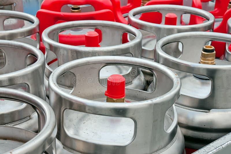 De Flessen van het gas royalty-vrije stock afbeelding