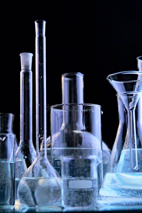 De flessen van het glas royalty-vrije stock foto