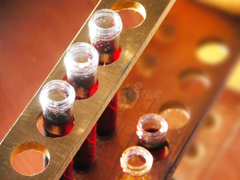 De flessen van het laboratorium
