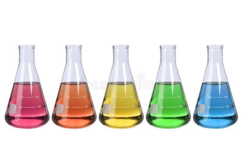 De Flessen van het laboratorium royalty-vrije stock fotografie