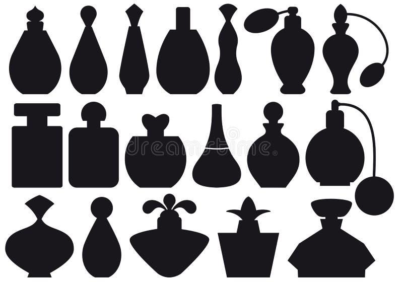 De flessen van het parfum,