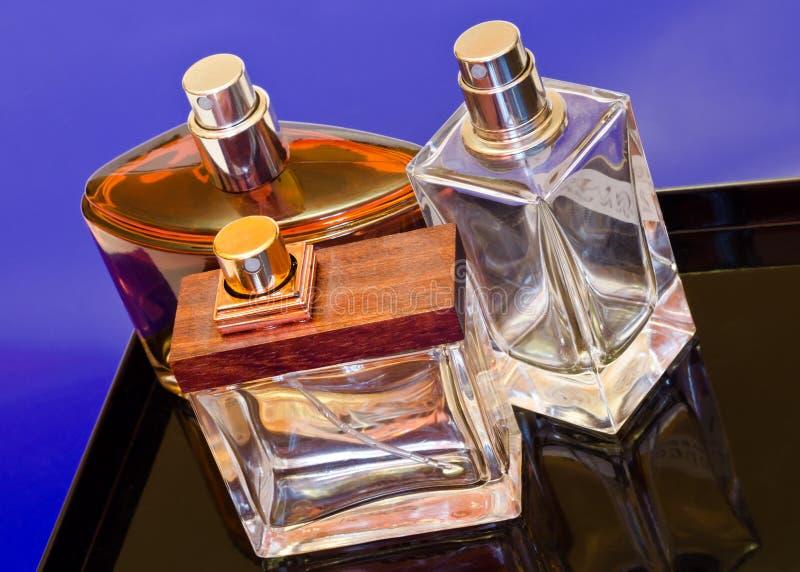 De flessen van het parfum royalty-vrije stock foto