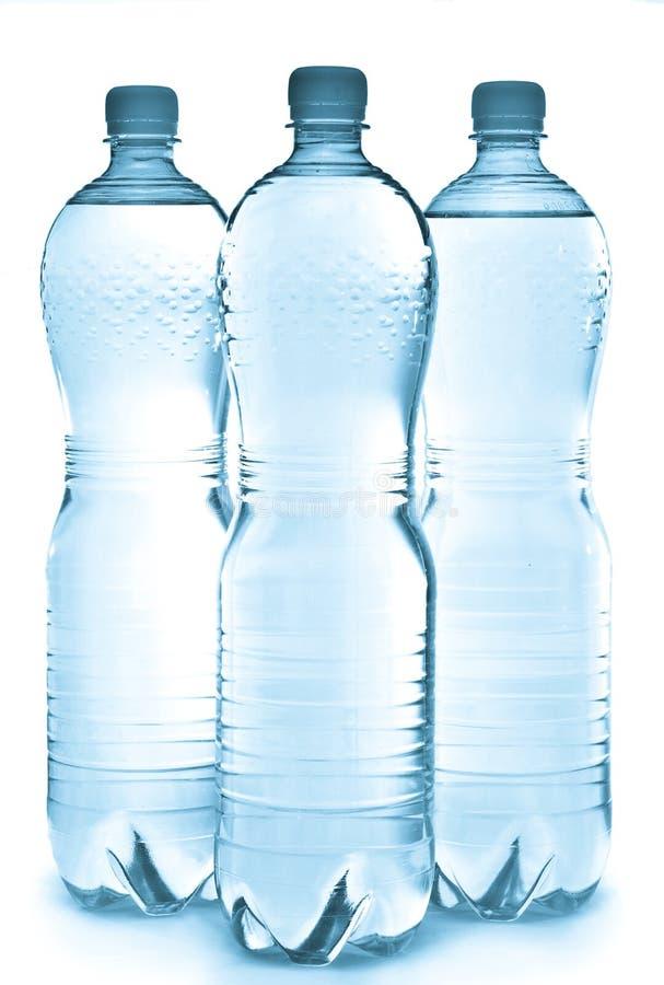 De Flessen van het water royalty-vrije stock afbeelding