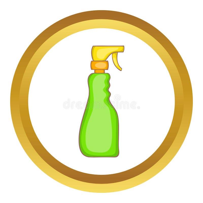 De flessen vectorpictogram van de huishoudennevel stock illustratie