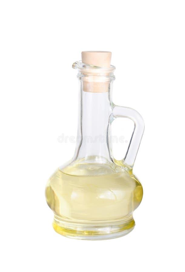 De flessenisolatie van de azijn op wit royalty-vrije stock foto