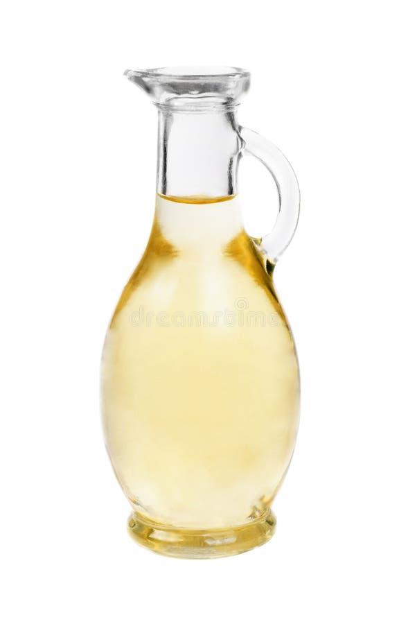 De flessenisolatie van de azijn op witte achtergrond royalty-vrije stock fotografie