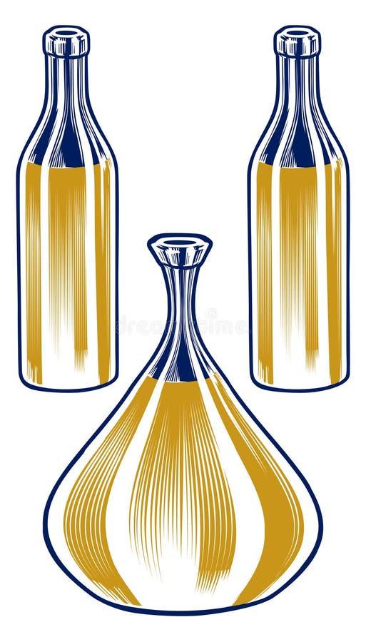 De flessenreeks van de waterkruik royalty-vrije illustratie