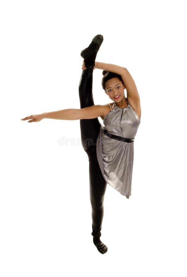De flexibele Danser die van de Jazz Been opheft stock foto's