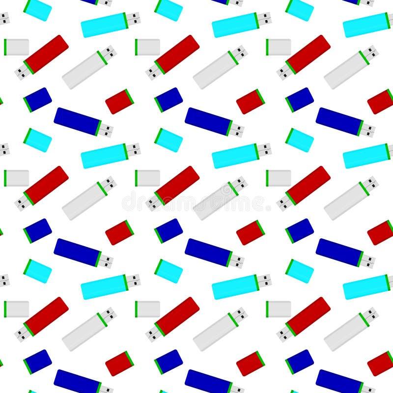 De flitsaandrijving kleurde naadloos patroon stock illustratie
