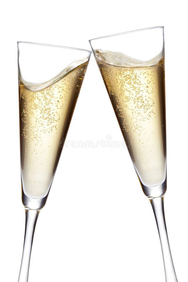 De fluiten van Champagne het roosteren royalty-vrije stock afbeeldingen