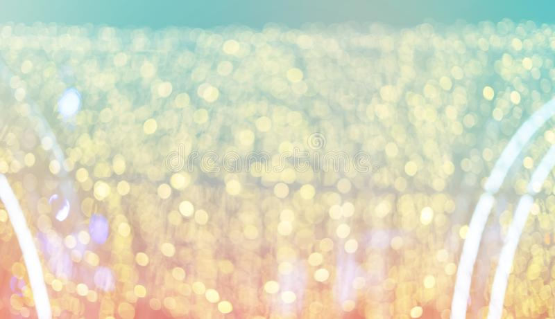 De focused bokeh light, abstract background at night photo royalty free stock images