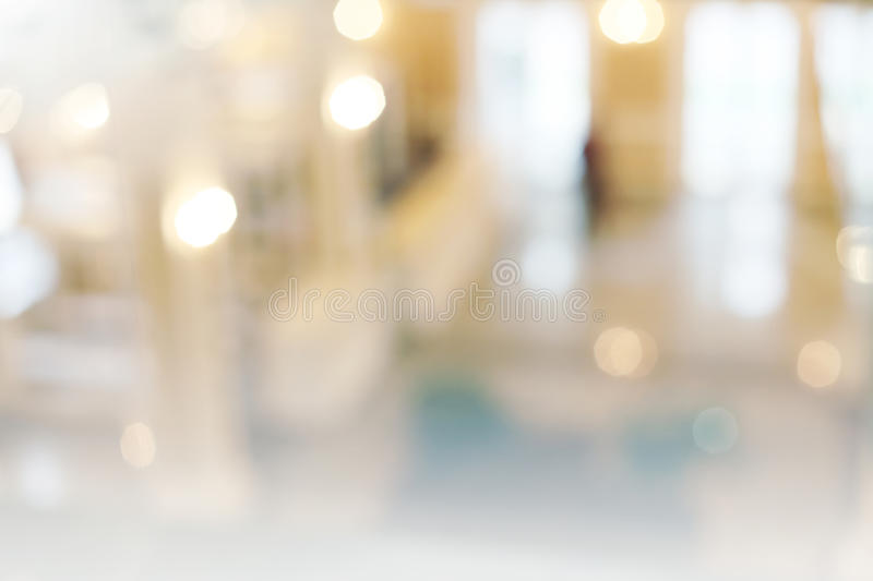 De-focuses business center interior. Blur background royalty free stock photography