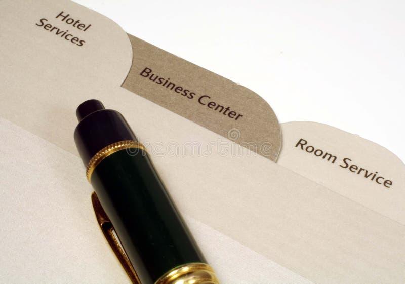 De Folder en de Pen van het hotel royalty-vrije stock foto
