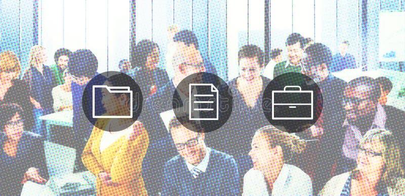 De Folder van de bedrijfs opslagblocnote het Werk Gegevensconcept royalty-vrije illustratie