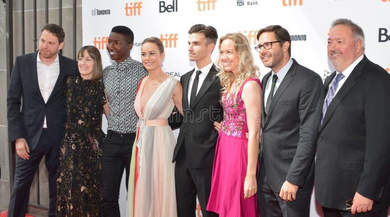 De folderdebuut van Brie Larson ` s van de première van ` Unicorn Store ` bij Internationaal de Filmfestival van Toronto van 2017 royalty-vrije stock afbeelding