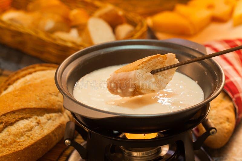 De fondue van de kaas royalty-vrije stock afbeeldingen