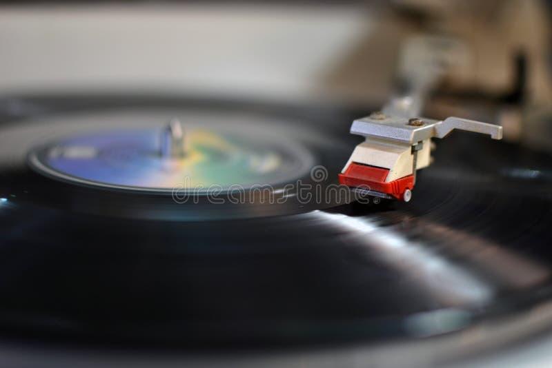 De fonograaf van de registreertoestelnaald stock afbeeldingen