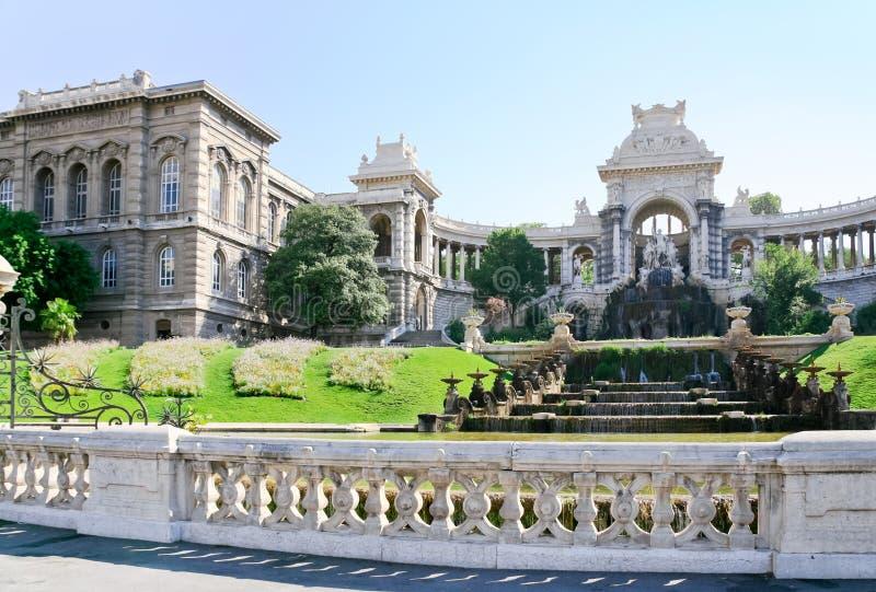 de Fontanna longchamp Marseille palais obraz royalty free