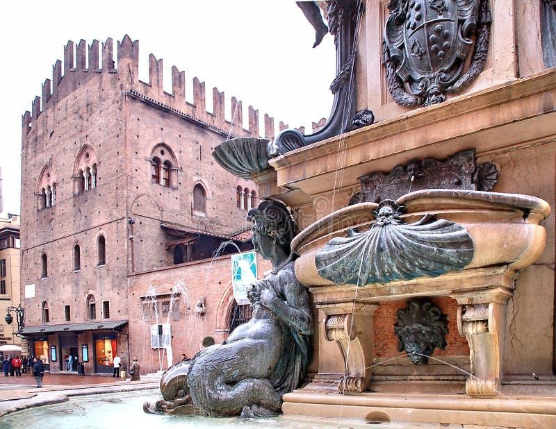 De Fontein Bologna van Neptunus stock afbeeldingen