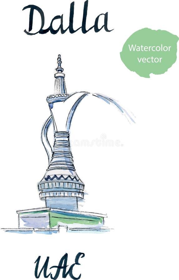 De fontein Dalla stock illustratie