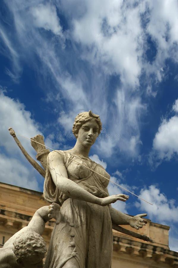 De fontein van Artemide. Syracuse (Siracusa, Sarausa) royalty-vrije stock fotografie