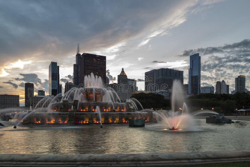 De Fontein van Buckingham in Chicago royalty-vrije stock afbeeldingen