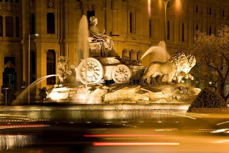 De Fontein van Cibeles, Madrid royalty-vrije stock foto