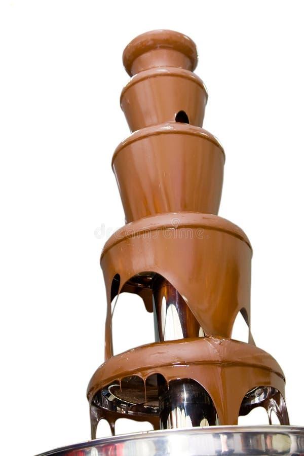 De fontein van de chocolade stock foto's